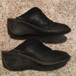 Ugg Black Wedge Clogs - Size 9